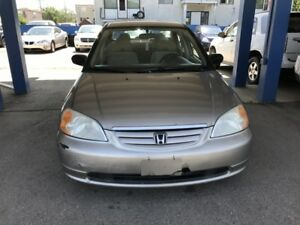 2003 Honda Civic DX Sedan 4-Spd AT With Front Side Airbag