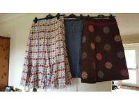Bundle of 3 Boden skirts. Size 12. Excellent condition. Barely worn. One denim and 2 in Boden spots