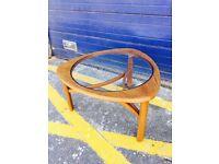 Retro Glazed Teak Coffee Table by Nathan Furniture - Retro Vintage