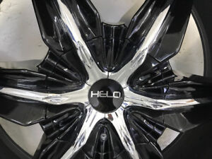 "HELO 24"" rims and tires"