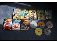 Children DVD bundle - Nickey Mouse Clubhouse, Cars2, Songs, Leap Frog..