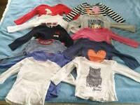 Girls long sleeve t-shirts, 3-4 years