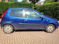 Fiat Punto for sale. Only 1 previous owner. MOT UNTIL November