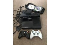 Xbox 360 elite 250gb with kinect