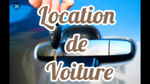 Location auto / Car rental starting at 550$ per month