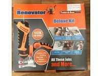 TWIST-A-SAW DELUXE KIT THE RENOVATOR HAMMER DRILL JIGSAW ROUTER CUT TOOL*NEW*
