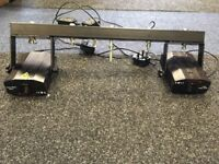 2 x small lasers with T-bar and power cables - used but good working order