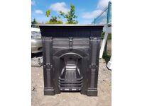 113 - Cast Iron Fireplace Surround Antique Victorian Fire Combination Original
