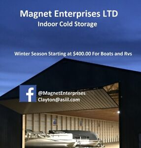 Indoor Winter Cold Storage - Boats and Rvs