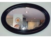 ** REDUCED** Vintage Oval Wall Mirror with Distressed Glass