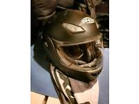 SHOX Motorcycle helmet size XL with carry bag