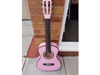 girls childs pink GUITAR made by PLAYON