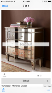 Beautiful antique mirrored chest