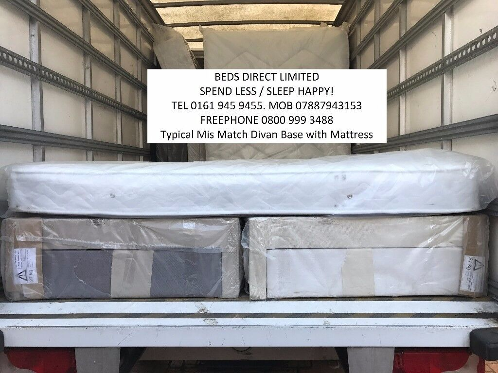 King-Size, 2 Drawer Divan Beds with Memory Foam or Pocket Sprung Mattresses from £145.00.