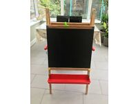 Children's Easel with blackboard and white board.