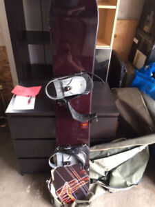 Rarely Used Snowboard With Bindings And Cover