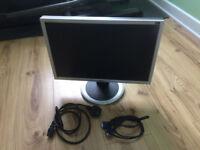 "LG 20"" flat screen PC display/monitor"