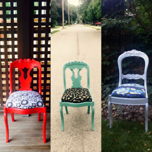 Vintage upcycled chairs