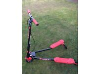 Black and red flicker scooter