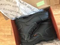 Hercules steel toe safety boots size 9