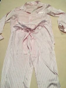 "Victoria""a Secret pin striped satin pyjamas  Size M"