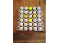 Quality used Golf Balls. Balls may contain company logos, pen marks and slight scuffs.