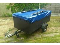 Camping trailer - custom made including fitted bike mounts - great condition :)