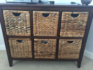 6 basket shelving unit