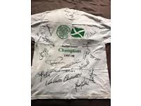 Signed Celtic FC 97-98 Champions t-shirt