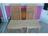 Free unfinished project garden bench