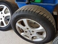 FORD FOCUS ALLOYS AND TYRES 4 STUD 15INCH
