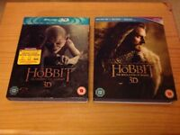 The Hobbit - part 1 and part 2 Blu-ray 3D