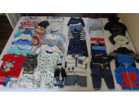 Baby boy 3 - 6 months clothes (58 items) in excellent condition for sale - £20