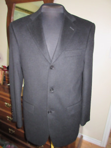 Black Loro Piana Suit Jacket Size 38R, 100% Cashmere