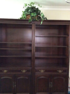 Custom Made Cherry Wood Cabinets with TV Unit