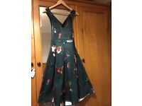 Stunning Size 14 Petite green floral dress- perfect for wedding