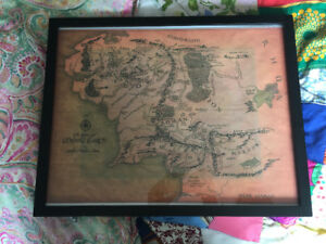 Framed Copy of The Realm of Middle Earth
