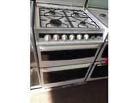 White ambassador 60cm gas cooker grill & double oven good condition with guarantee