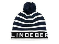 BRAND NEW - Lindeberg stripe pompom beanie - worth £25