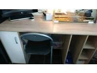 Wood computer desk for sale.