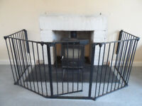 Lindam Multifit Fire guard with wall brackets
