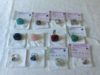 Silver and gemstone rings (12)