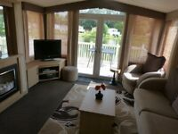 Six berth static caravan on Hoburne Cotswold Water Park, double glazed, centrally heated
