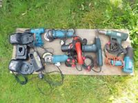 GRINDERS/ BELT SANDERS/ HEAT GUNS ECT JOB LOT
