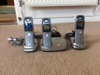 Panasonic cordless triple phone set
