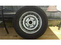 Transit 5 stud alloy with tyre