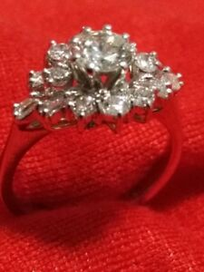 18K White Gold handcrafted Diamond Ring (appraised at $ 4,100)