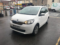 Skoda Citigo 1.0 Petrol Manual 3 Door Hatchback White Stunning Car Low road Tax