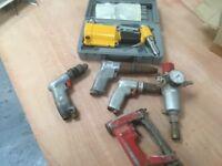 Air rivet gun,drills, screwdriver, water trap regulator
