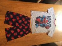Spider man pyjamas